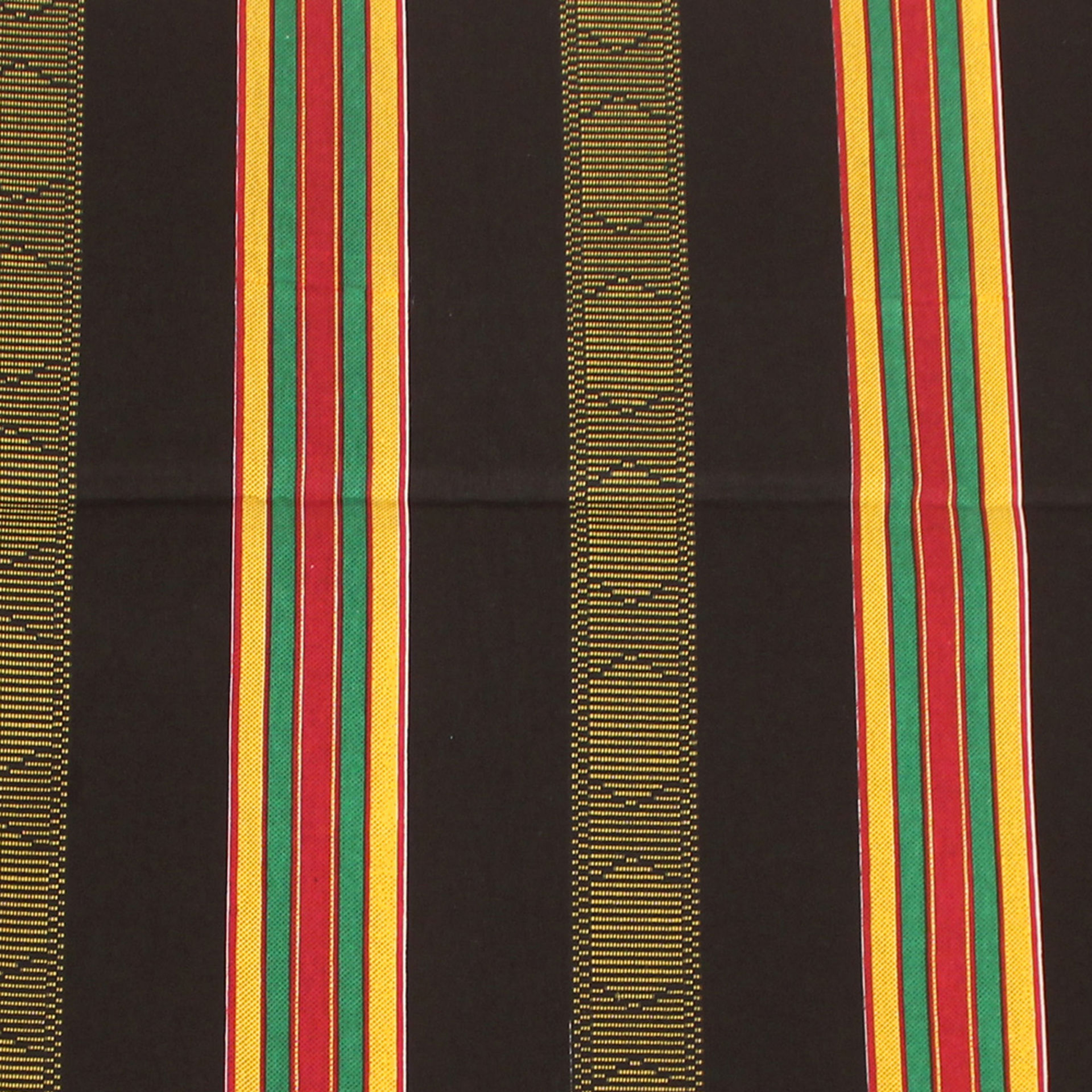 Picture of African Kente Fabric #4 BLACK - 6 Yards