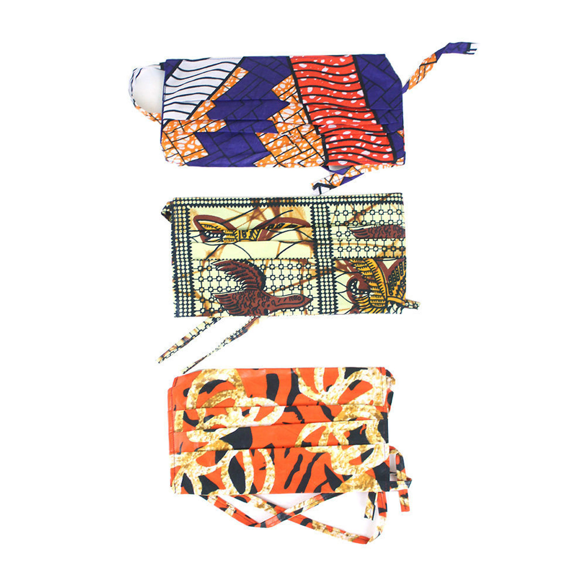 Picture of Set Of 3 African Print Head-Tie Masks