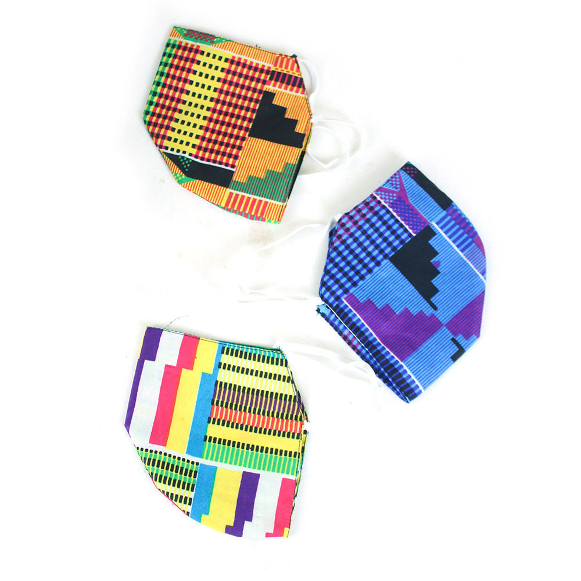 Picture of Set Of 3 Kente Face Masks - ASSORTED