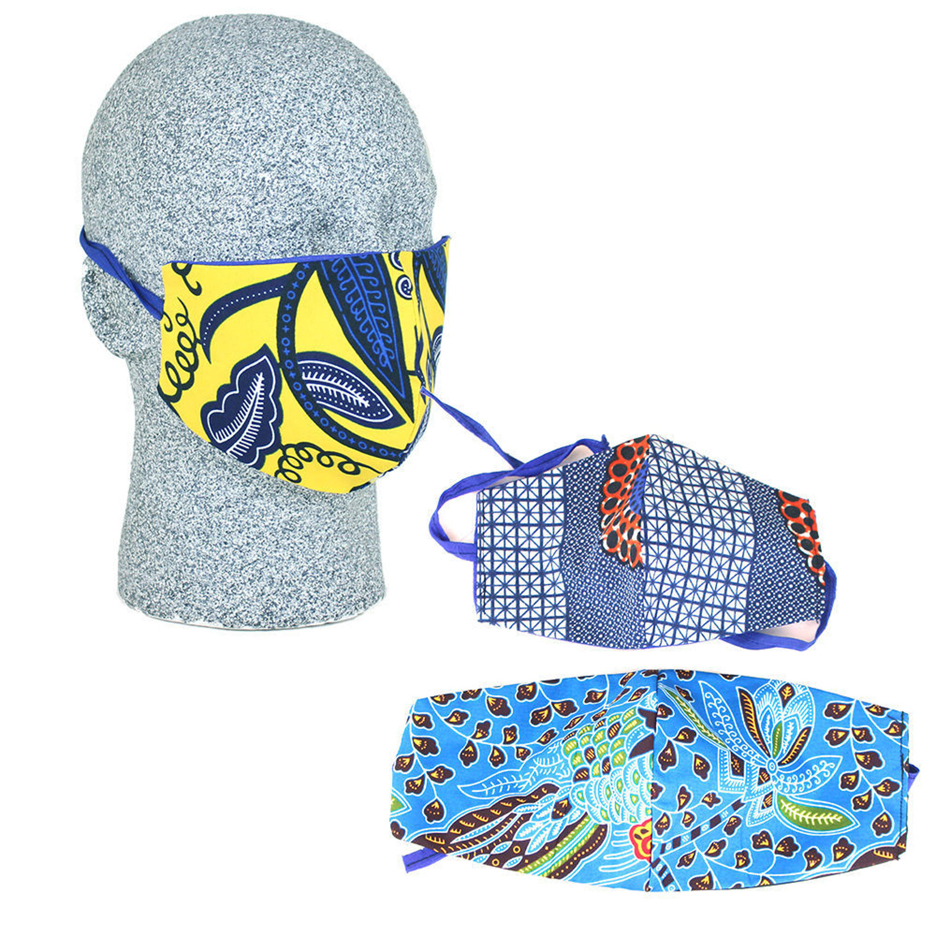 Picture of Set Of 3 Head-Tie Face Masks