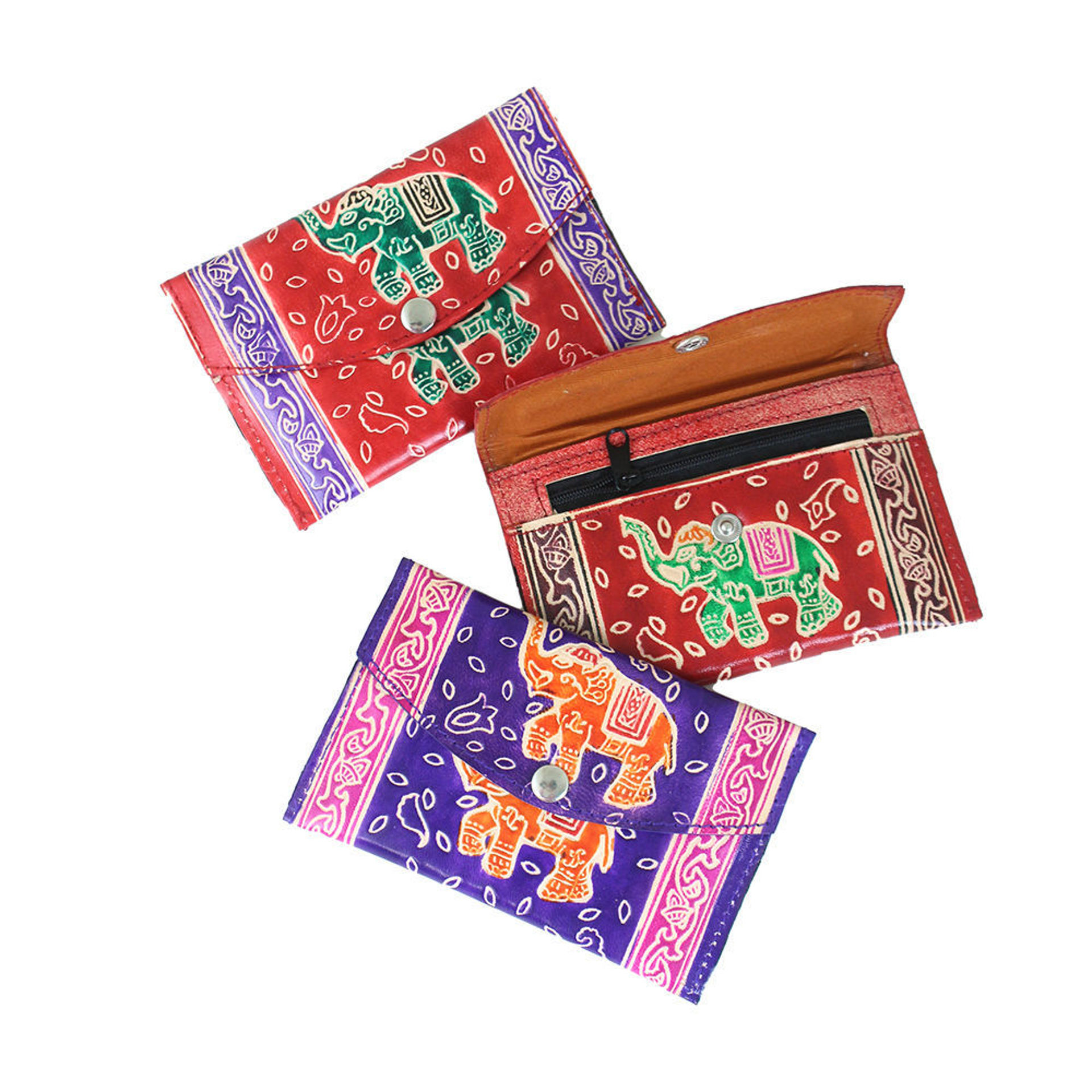 Picture of Leather Elephant Wallet ASSORTED COLORS