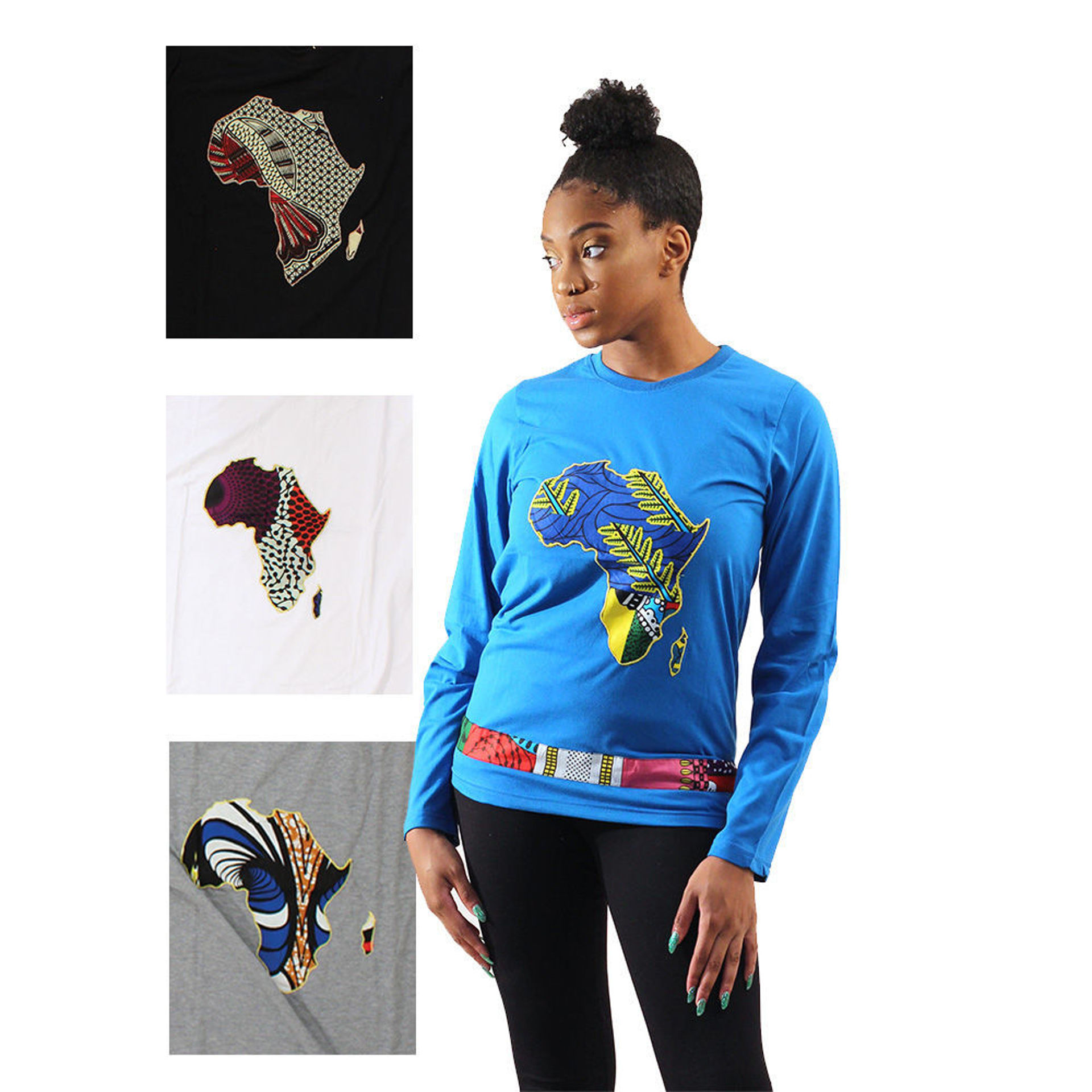 Picture of Set Of 4 Long-Sleeve Africa Shirts ASSTD