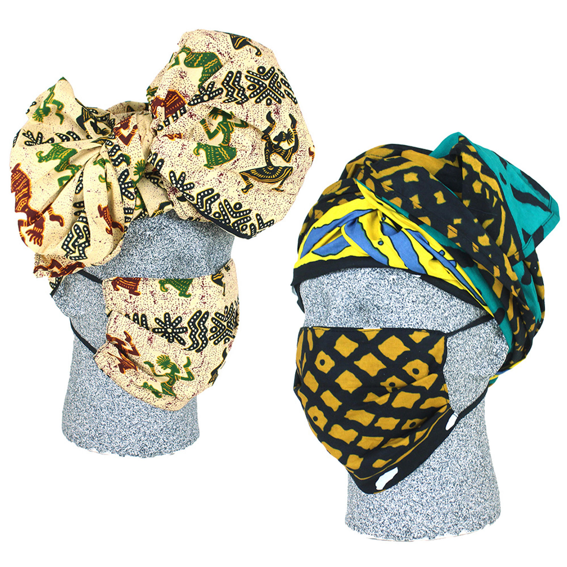 Picture of Afrocentric Mask & Headwrap Set