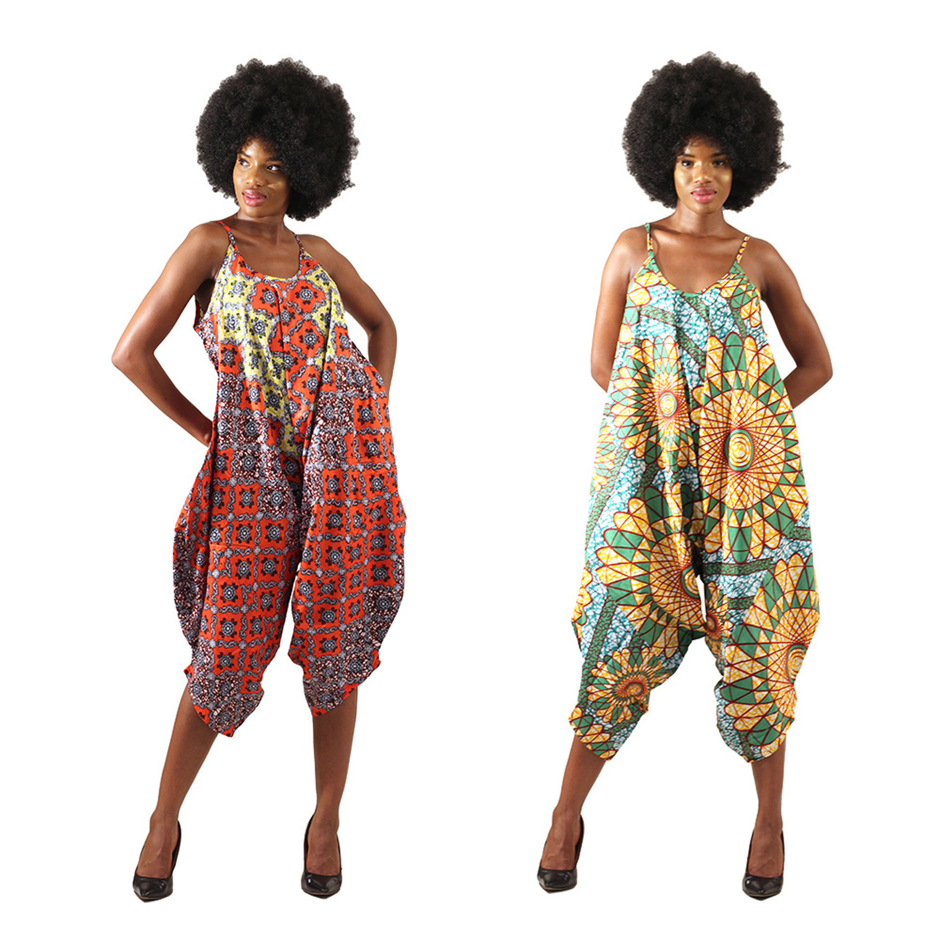 Picture of African Print Bloomer Jumpsuit