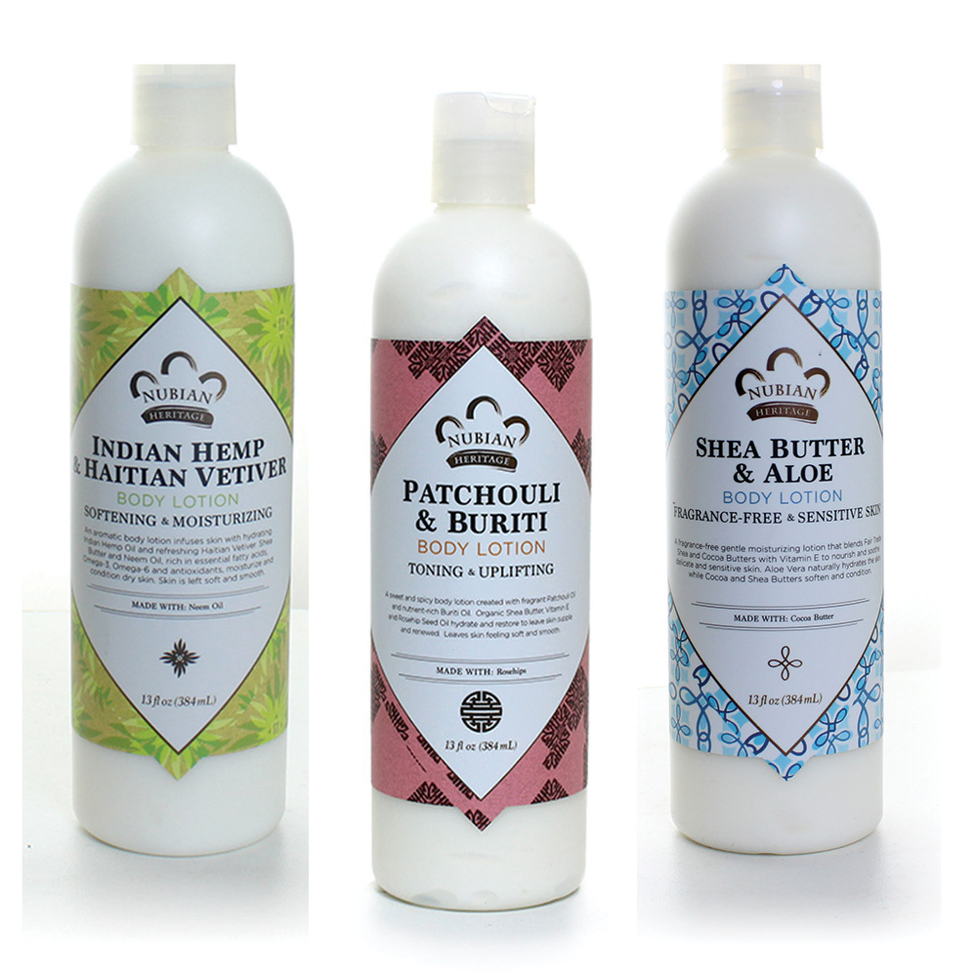 Picture of Set Of 3 Nubian Heritage Lotions