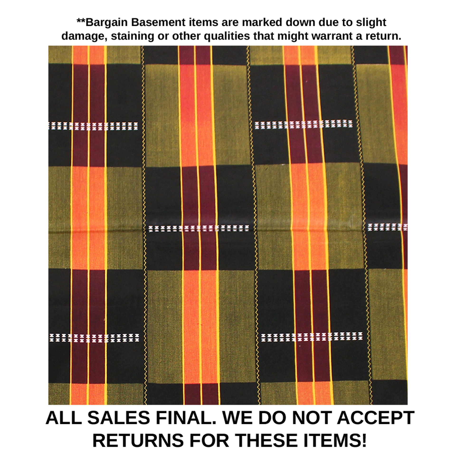 Picture of DAMAGED African Kente Fabric #3 - 6 Yds
