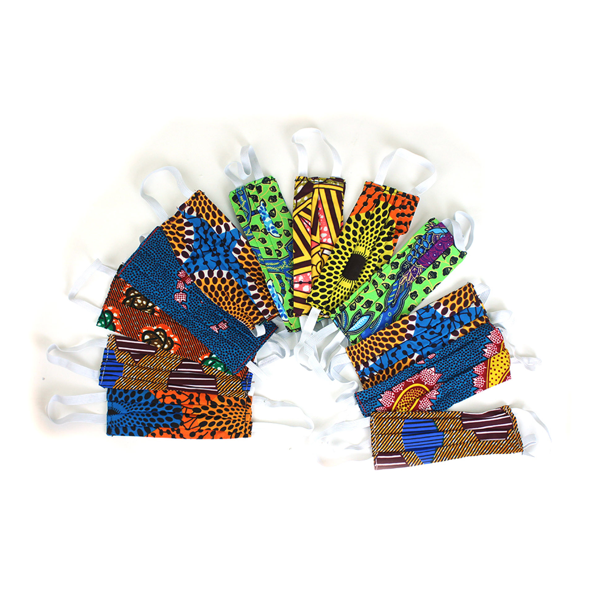 Picture of Set Of 12 Handmade Ghanaian Face Masks