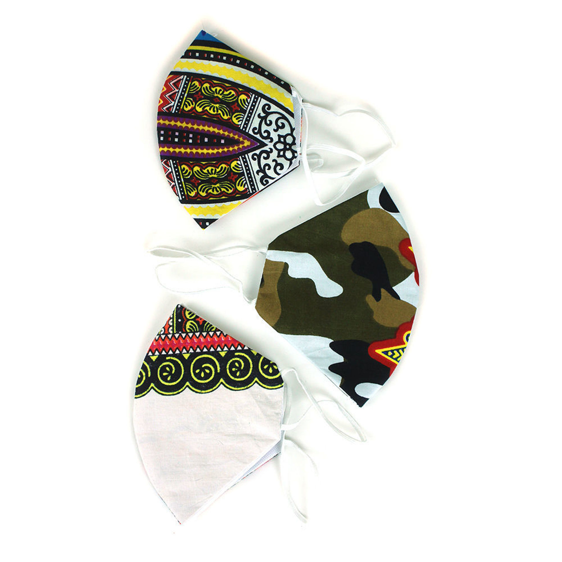 Picture of Set Of 3 Traditional Print Masks: ASSRTD