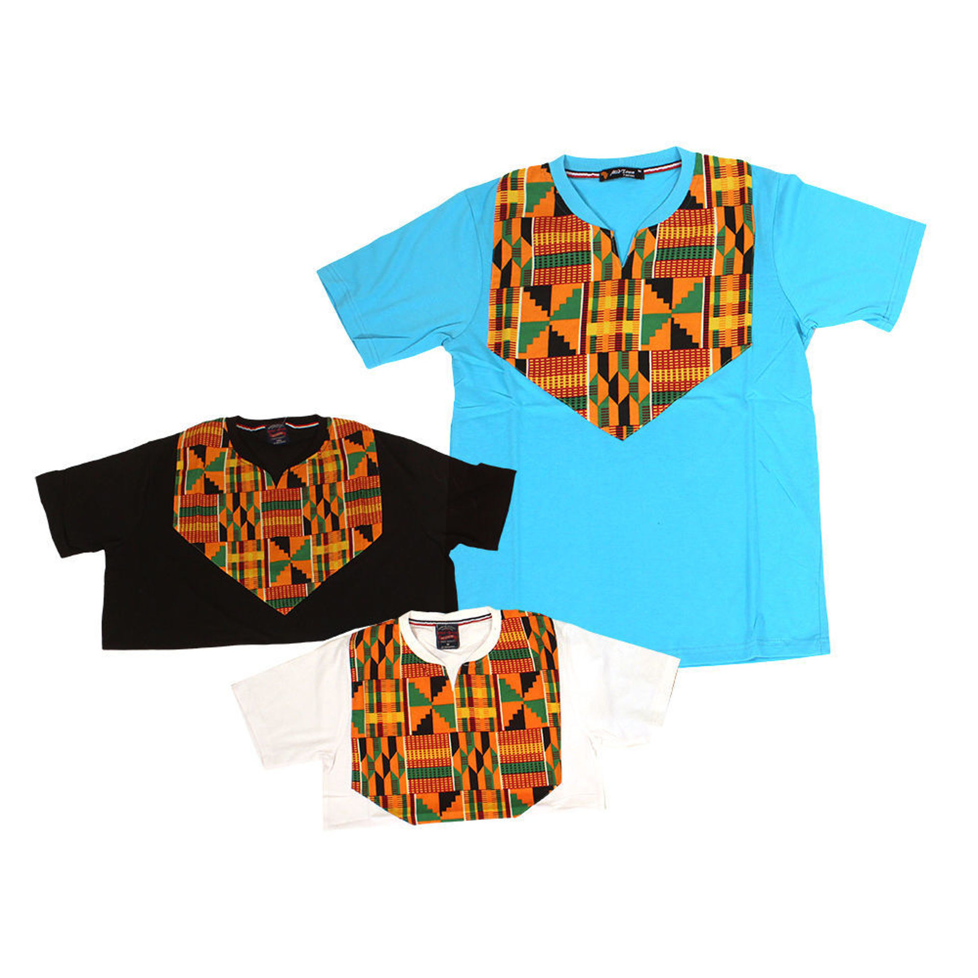 Picture of Set Of 3 ASSORTED African-Patch T-Shirts